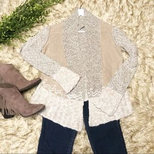 BKE Boutique Open Front Cardigan Sweater. Sz Small